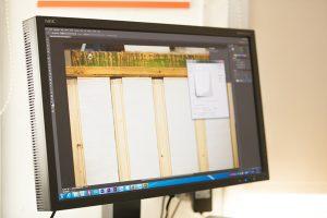 Ein Bildschirm auf dem ein Bild in einem Bearbeitungsprogramm zu sehen ist.